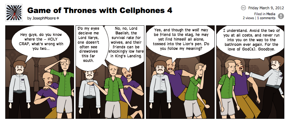 Game of Thrones with Cellphones strip 4