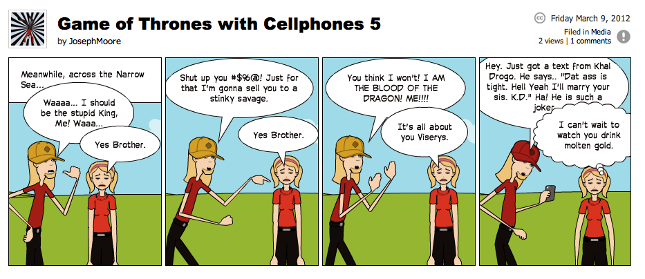 Game of Thrones with Cellphones strip 5