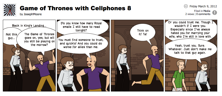 Game of Thrones with Cellphones strip 8