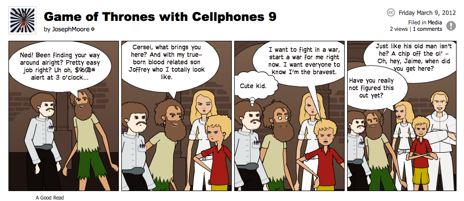 Game of Thrones with Cellphones strip 9