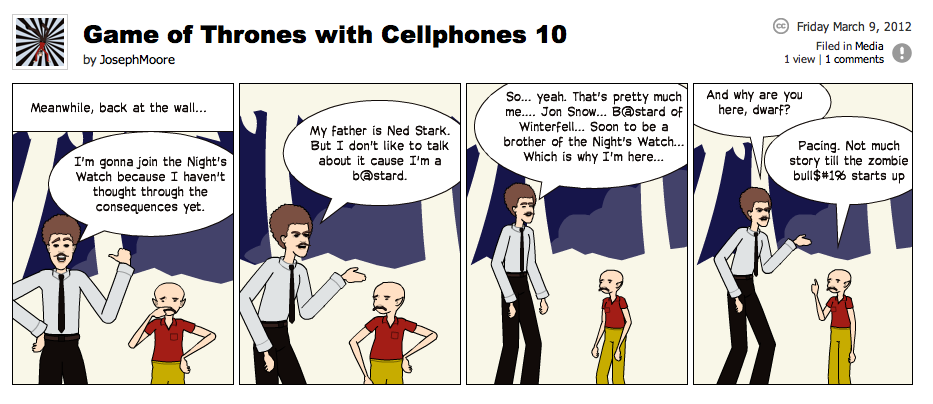 Game of Thrones with Cellphones strip 10