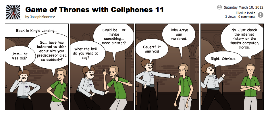 Game of Thrones with Cellphones strip 11