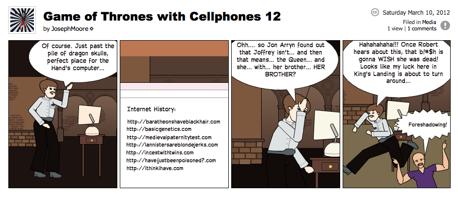 Game of Thrones with Cellphones strip 12