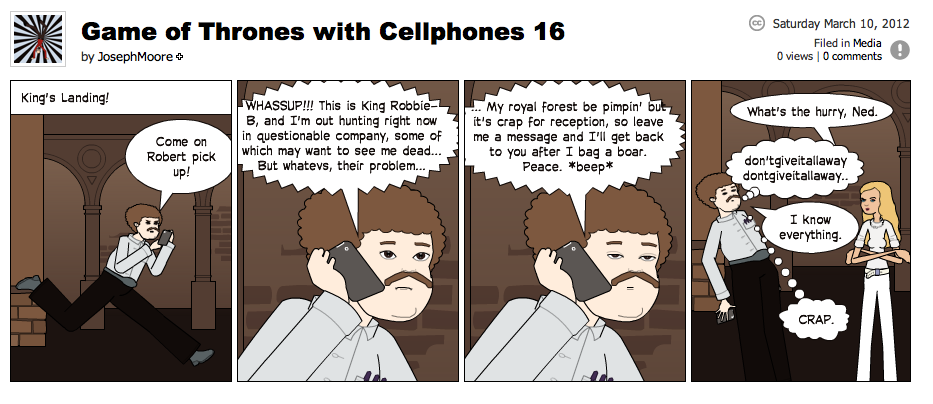 Game of Thrones with Cellphones strip 16