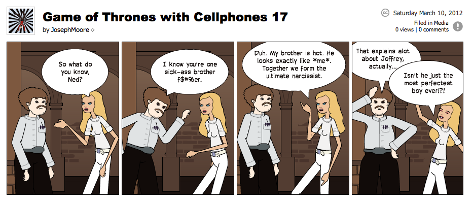 Game of Thrones with Cellphones strip 17