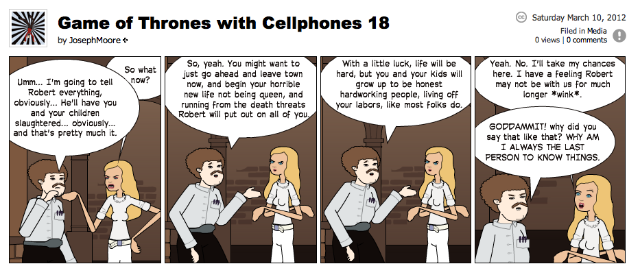 Game of Thrones with Cellphones strip 18