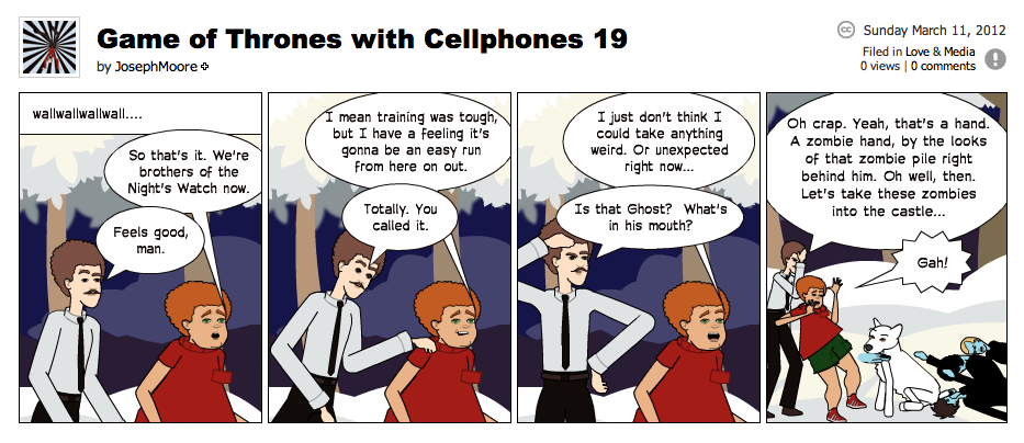 Game of Thrones with Cellphones strip 19