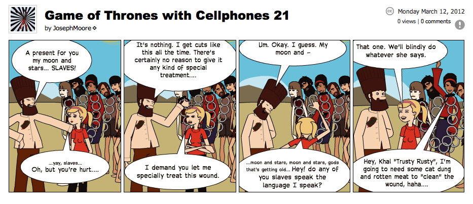 Game of Thrones with Cellphones strip 21