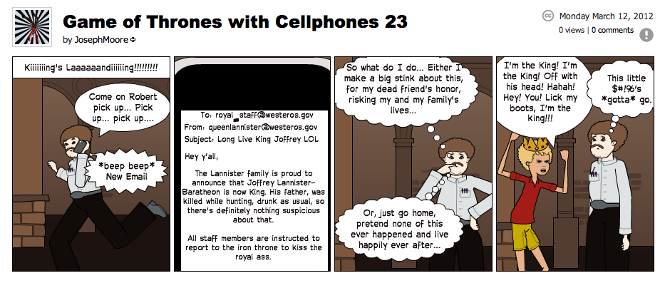 Game of Thrones with Cellphones strip 23