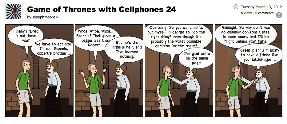 Game of Thrones with Cellphones strip 24