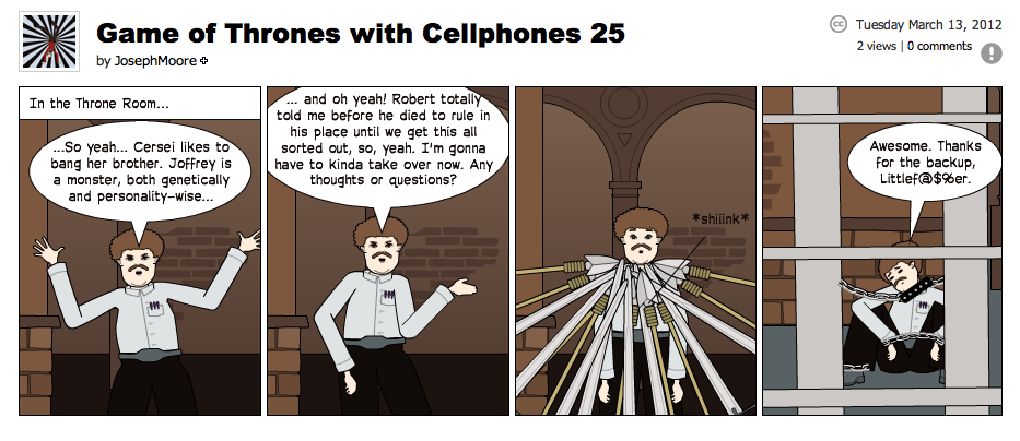 Game of Thrones with Cellphones strip 25