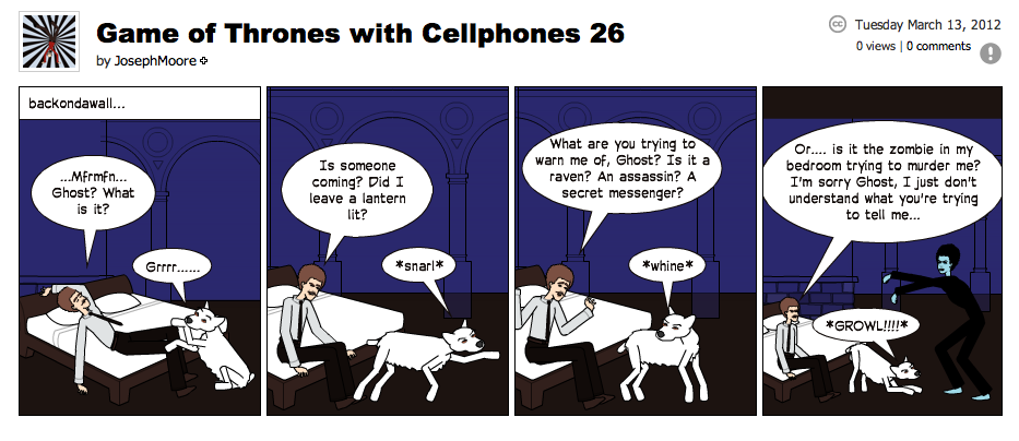 Game of Thrones with Cellphones strip 26