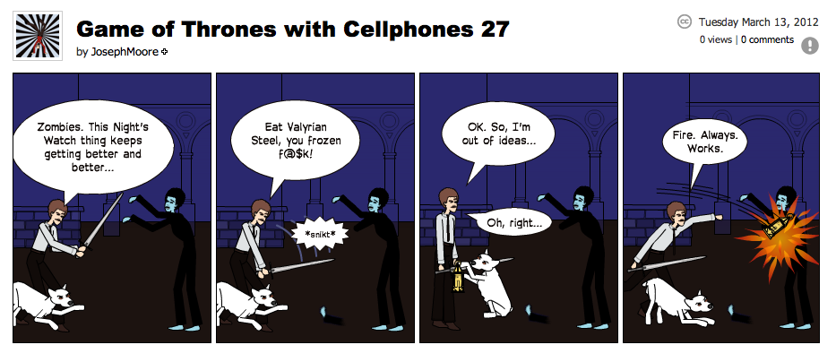 Game of Thrones with Cellphones strip 27