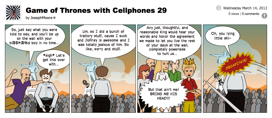 Game of Thrones with Cellphones strip 29
