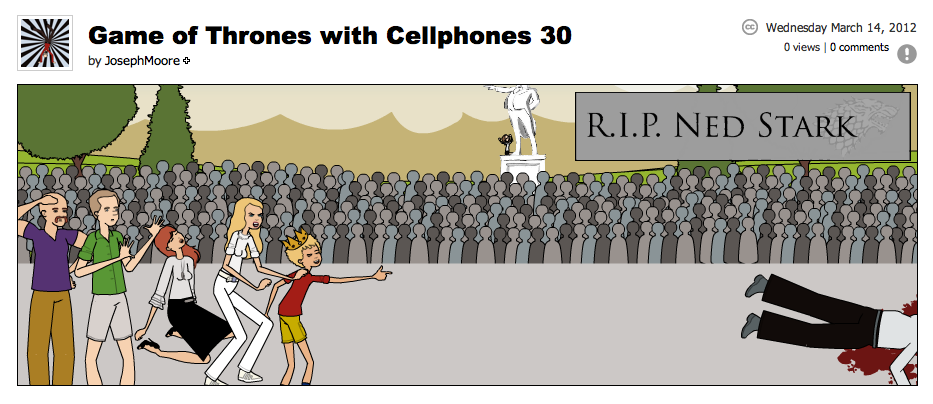 Game of Thrones with Cellphones strip 30